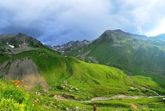 Highland, Grassland, Mountainous Landforms, Nature royalty free stock photography