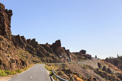 Highland highway in Tenerife Royalty Free Stock Photos