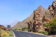 Highland highway in Tenerife Stock Images