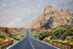 Highland highway in Tenerife. Canary Island, Spain Stock Photography