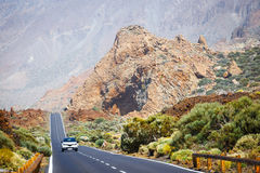 Highland highway in Tenerife Royalty Free Stock Photo