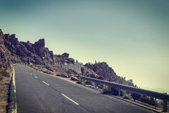 Highland highway in Tenerife Royalty Free Stock Image