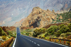 Highland highway in Tenerife, Spain Royalty Free Stock Photos