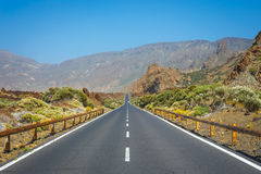 Highland highway in Tenerife, Spain Stock Photo