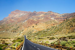 Highland highway in Tenerife, Spain Royalty Free Stock Images