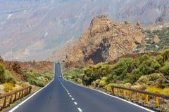 Highland highway in Tenerife, Spain Stock Photo