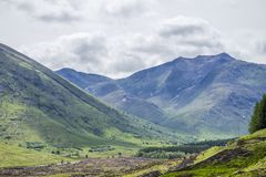Highland hills in Glen Etive Royalty Free Stock Photo