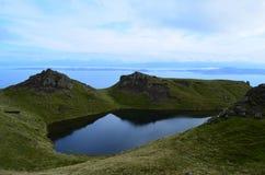 Highland Lake in Skye Scotland. Lake in the Highlands on the Isle of Skye Scotland Stock Images