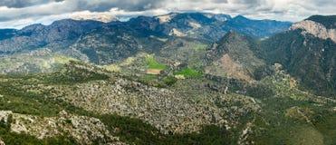 Highland landscape of Majorca. Panorama of highland landscape near Alaro, Majorca, Spain Stock Photography