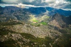 Highland landscape. Near small town Alaro, Majorca, Spain Royalty Free Stock Photos