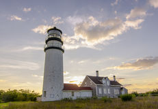 Highland Light sunset royalty free stock photography