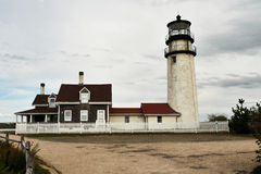 Highland Lighthouse at Cape Cod, built in 1797. Highland Lighthouse, oldest and tallest on Cape Cod, built in 1797, North Truro, Massachusetts, USA Royalty Free Stock Images