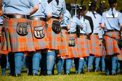 Highland marching band at Victoria Highland Games, Victoria, BC Royalty Free Stock Photo