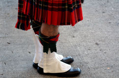 Highland  Mdress. Traditional highland dress as worn by Scotish man Royalty Free Stock Image