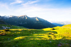 Highland meadow in Pyrenees Stock Photos