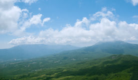 Highland panoramic landscape Stock Images