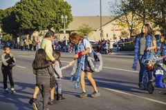 Highland Park christmas parade. Los Angeles, DEC 3: USPS postman of Highland Park christmas parade on DEC 3, 2017 at Los Angeles, United States Royalty Free Stock Photography