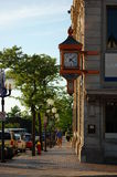 Highland park clock. A beautiful park clock in downtown Highland Park Royalty Free Stock Photo