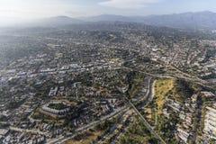 Highland Park Los Angeles antenn Arkivfoto