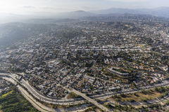 Highland Park Los Angeles antenn Royaltyfria Foton