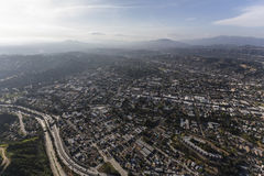 Highland Park Los Angeles California Aerial Royalty Free Stock Photography