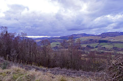Highland Perthshire: snowclad peaks in springtime Royalty Free Stock Image