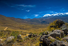 Highland of Peru - Coropuna mountain Stock Image