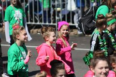 St. Louis St. Patrick Day Parade Dancers 2019 X royalty free stock photography