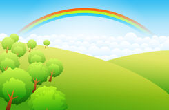 Highland Rainbow Stock Photography