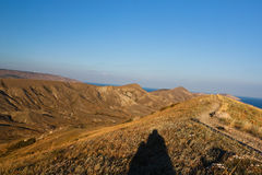 Highland region. Ridge Biyuk-Anychar, Koktebel, Crimea stock image