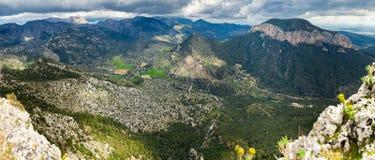 Highland regions near Alaro, Majorca. Panorama of highland regions near Alaro, Majorca, Spain Royalty Free Stock Image