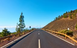 Highland road in Tenerife Stock Photo
