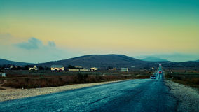 Highland road to infinity Royalty Free Stock Images