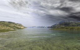 Highland Sea. This image shows a sea in the highlands Royalty Free Stock Photos