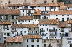 The highland at Spain. The little village Linares de Mora at the spanish highlands. It lies at  the neighbourhood of Teruel, Spain Royalty Free Stock Image