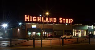 The Highland Strip Memphis Nightscape Royalty Free Stock Photography