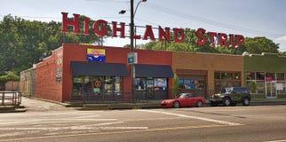 The Highland Strip Memphis Stock Image