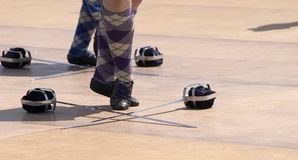 highland tancerkę. Zdjęcie Stock
