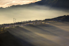 Highland village in Bromo Tengger Semeru National Park Stock Image