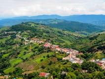 Highland village at Doi Mae Salong mountain, Chiangrai, Thailand Stock Images