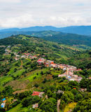 Highland village at Doi Mae Salong mountain, Chiangrai, Thailand Stock Photo