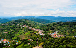 Highland village at Doi Mae Salong mountain, Chiangrai, Thailand Stock Photography