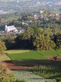 Highland village and farm Stock Photo