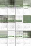 Highland and zeus colored geometric patterns calendar 2016 Stock Photo