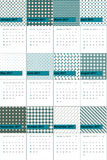 Highland and zeus colored geometric patterns calendar 2016 Royalty Free Stock Photo