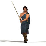 Highlander στη μεγάλη σκωτσέζικη φούστα στοκ εικόνες
