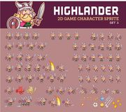 Highlander Cartoon Game Character Sprite Stock Photos