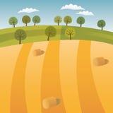 Highlands. Vector illustration of Highlands after harvest Stock Photography