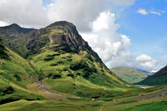 Highlands. Glencoe scotland mountains and lake Royalty Free Stock Photos