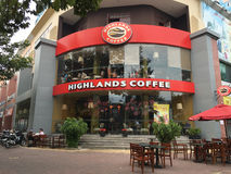 Highlands Coffee shop in Vung Tau, Vietnam Royalty Free Stock Image